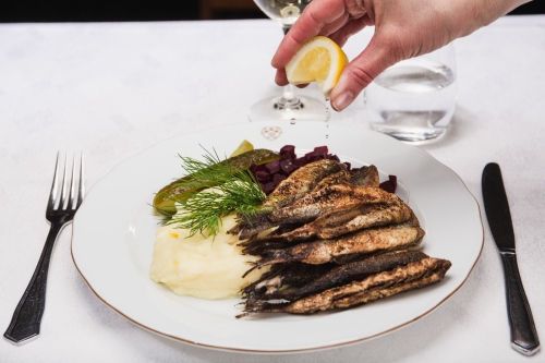 Pan Fried Baltic Herrings